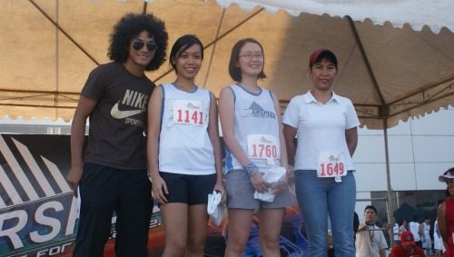 my daughter with coach rio and other winners