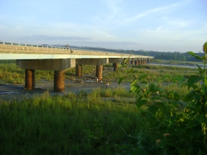 Lahar under the bridge