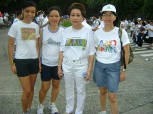Faye, me, LBP Pres and CEO Gilda E. Pico, Nanette